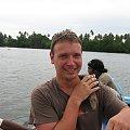 Wyprawa na rzekę. Krokodyl #SriLanka #tropik #równik #azja #wakacje #OceanIndyjski #ocean #laguna #krokodyl #zwierzę