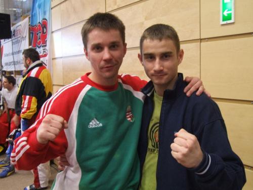 Trener Rafał Karcz i Dezso Debreczeni (HUN) - 5-krotny Mistrz Świata i 8-krotny Mistrz Europy w kickboxingu