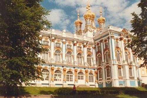 Skan z odbitki. Pałac Katarzyny Wielkiej w Carskim Siole. #Rosja