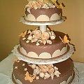 Tort weselny 8 kg Beżowo - Ekrii #Tort #Weselny #Impreza