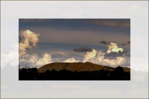 widoczek..z hałdą,troche już jesienny.. #niebo #chmury #hałda