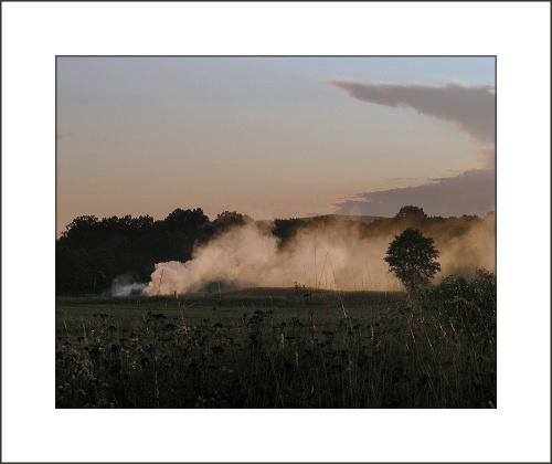 pierwsze jesienne ogniska.. #dym #ognisko #jesień #pejzaż
