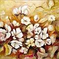 kwiaty wiśni olej 50-70 #kwiaty #wiśnia #malarstwo