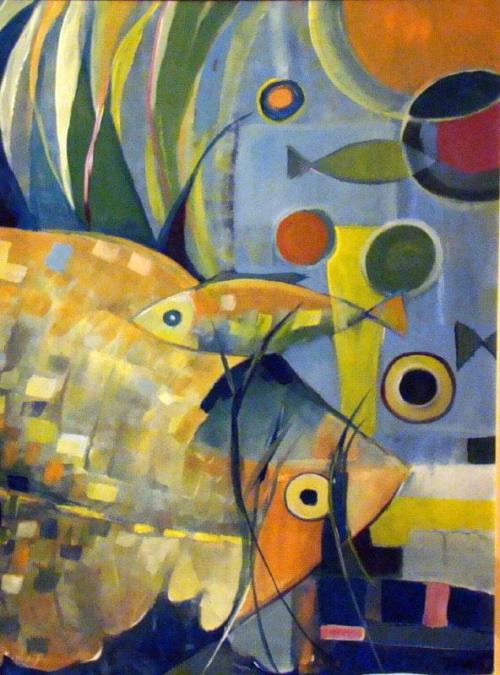 rybki 60-80 akryl #ryby #malarstwo