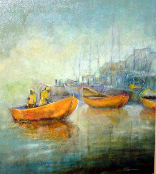 obraz 70-60 w porcie #port #malarstwo