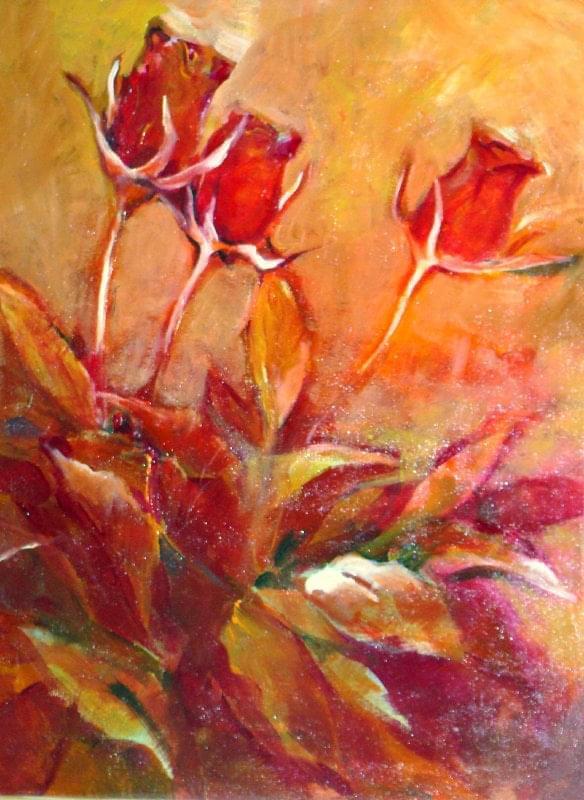 obraz 40-50 róże #róże #kwiaty #malarstwo