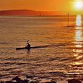 zdążyc przed zmrokiem... #morze #zachód #słóńce #woda