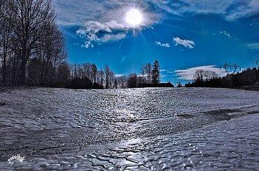 ślisko(!) #zima #jeziora #śnieg #krajobraz