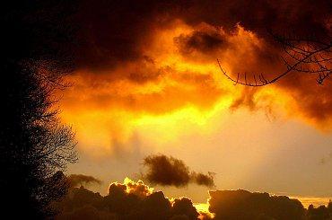 Ogniste niebo #chmury #niebo #OgnisteNiebo
