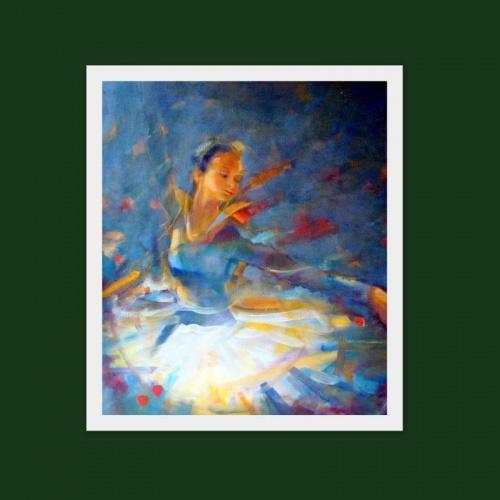 jeszcze jedna baletnica.........olej 80-60 :) #malarstwo