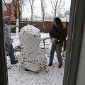 #bałwan #śnieg #drzewa #zima