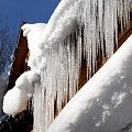 sople zimą #icicle #icicles #sople #sopel #lód #xnifar #rafinski