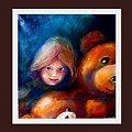 misie :) obraz 60-80 .... a cos tak wzielo mnie na pluszaki :))) #malarstwo #misie #dziewczynka