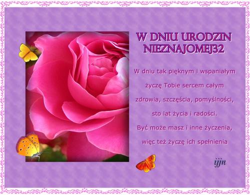 W Dniu Urodzin dla Nieznajomej32 :) #nieznajoma32 #urodziny #ŻyczeniaUrodzinowe #życzenia