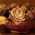 Moje kwiatki z liści #rękodzieło #kwiaty #bukiet #liście