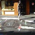 Kolorowy chodnik w Geldern #Malunki #Ulica #Chodnik #Geldern #Niemcy #Obraz