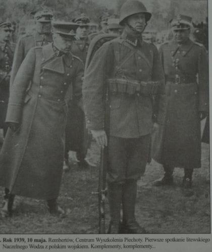 Centrum Wyszkolenia Piechoty w Rembertowie – pierwsze spotkanie litewskiego Naczelnego Wodza gen. Stasysa Raštikisa z polskim wojskiem.