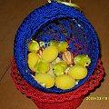 Moje dekoracje wielkanocne #rękodzieło #DekoracjeWielkanocne #KoszykWielkanocny #JajkaSzydełkowe #koszyk #szydełkowy #szydełkowce