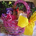 Wielkanoc 2009 - koszyczek ze święconym #Święconka #koszyczek #baranek #pisanki #życzenia #okazje