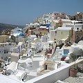 miasto Oia #Kreta #wyspa #Santorini #wyprawa #natura #mozre #ocean #zatoka #port #domy #biale #kolory #romantycznie