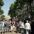BARCELONA-HISZPNIA-La Rambla słynna, ruchliwa ulica w centrum Barcelony #BARCELONA #MIASTA #ULICE