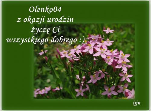 100 lat w zdrowiu, szczęściu, pomyślności :) #UrodzinyOlenki04 #życzenia