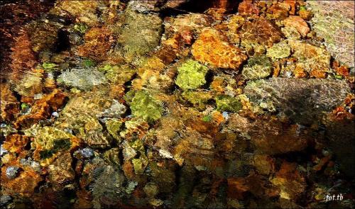 Kartki z podróży...woda w górskich potokach jest przejrzysta...