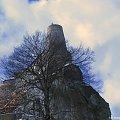 Zamek rycerski Bobolice #zamek #zamki #polskiezamki #bobolice #ruiny #lezajsktm #widok #krajobraz #niebo #chmury #zima