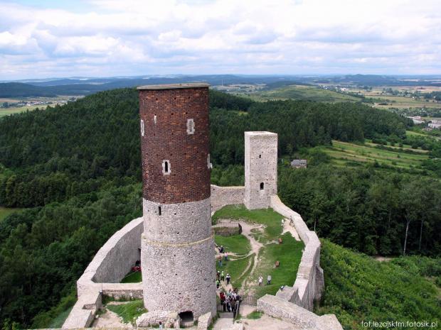 Zamek w Chęcinach - zamek królewski z przełomu XIII-XIV wieku, woj. świętokrzyskie. #chęciny #checiny #zamek #zamki #ruiny #widok #krajobraz #niebo #lezajsktm