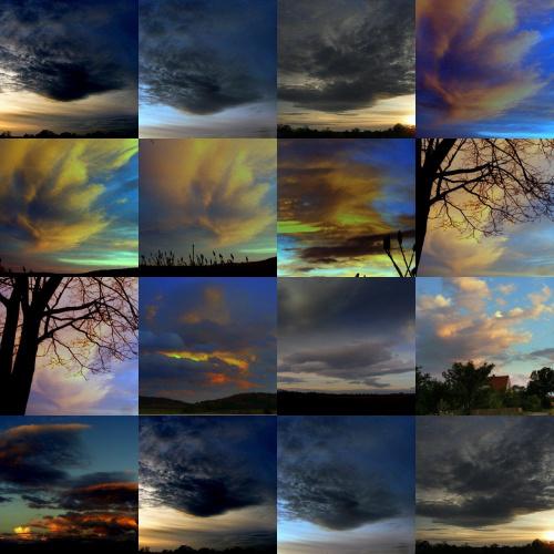 nieba jesienne #kolaż #niebo #chmury