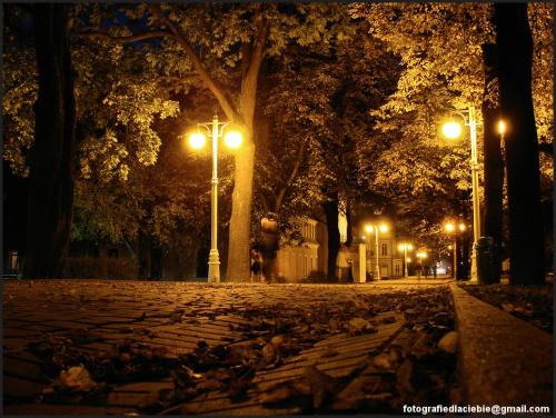 Deptak ... #Krynica #Wierchomla #światło #miasto #noc