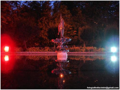 W zaciszu ... #Krynica #Wierchomla #światło #miasto #fontanna #noc