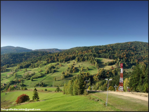Kolorowy zawrót głowy :) #Krynica #Wierchomla #góry #widoki #panorama #drzewa #natura #jesień