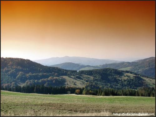 Panorama #Krynica #Wierchomla #góry #widoki #panorama #drzewa #natura #jesień
