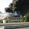 Pożar we Wrocławiu, przy ul. Robotniczej. 30.09 07 ok 15:00 Spalił się skład makulatury. #katastrofa #pożar