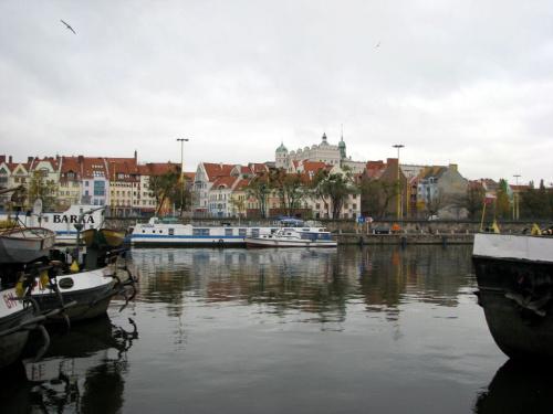 Szczecin w okolicach Mostu Dlugiego.