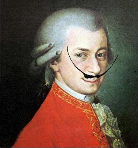 Mozart z wąsami Dalego